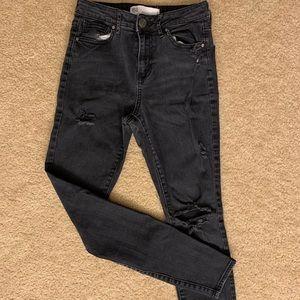 Dark wash black jeans